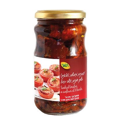 עגבניות מיובשות (חצאים) בשמן חמניות ועשבי תיבול