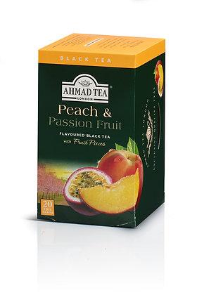 תה שחור אפרסק ופסיפלורה 20 שקיות