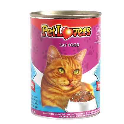 מזון לחתולים בטעם נתחי דג טונה