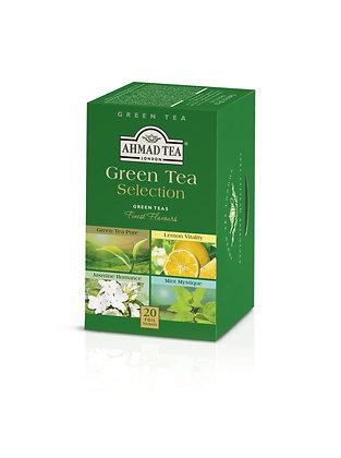 תה ירוק מבחר 4 סוגים 20 שקיות