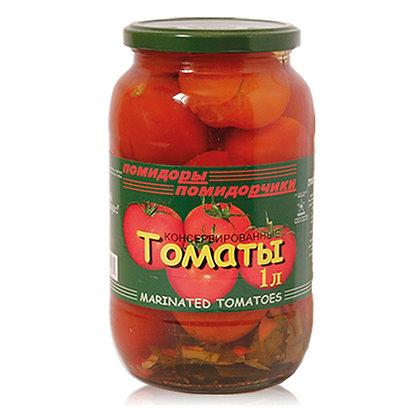 עגבניות אדומות כבושות בחומץ
