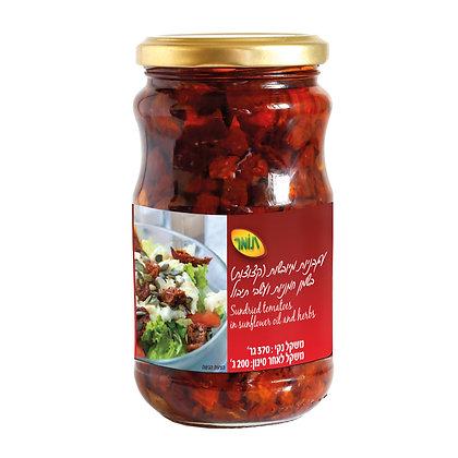 עגבניות מיובשות קצוצות בשמן חמניות ועשבי תיבול