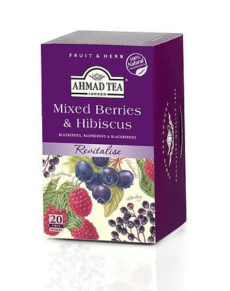 תה פירות יער והיביסקוס 20 שקיות