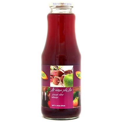 מיץ סלק ותפוח עץ 100% טבעי