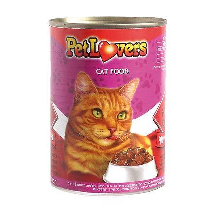 מזון לחתולים בטעם נתחי עוף