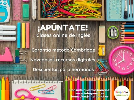 ¡Apúntate a nuestras clases online!