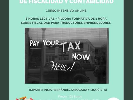 ¡Nuevo curso online sobre fiscalidad y contabilidad!