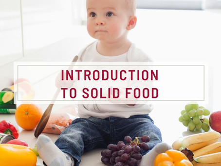 Introduction To Solid Food
