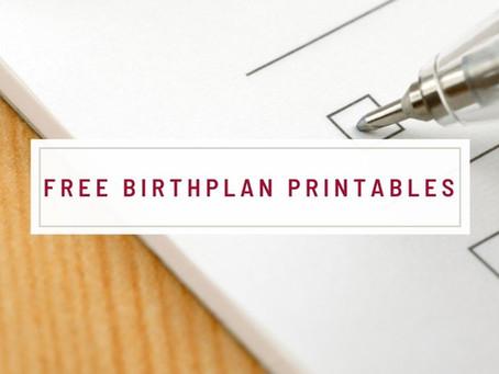 Free Birth Plan Printables