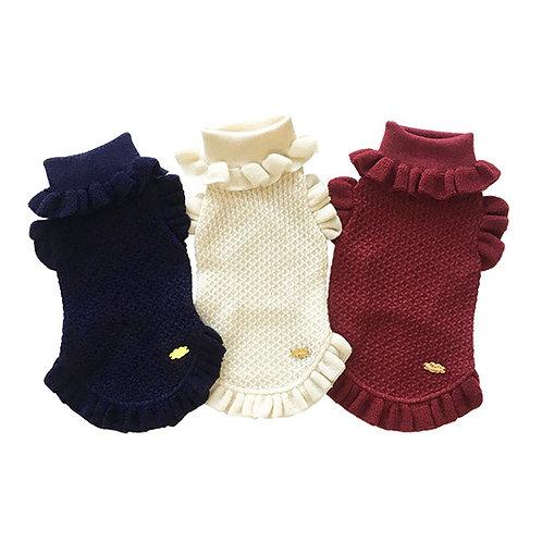 Ruffle sleeve knit