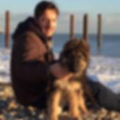 Alex Macfarlane on Brighton beach