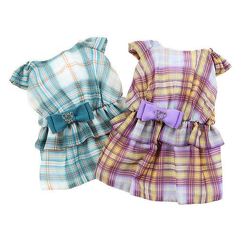 Chiffon Plaid Dress