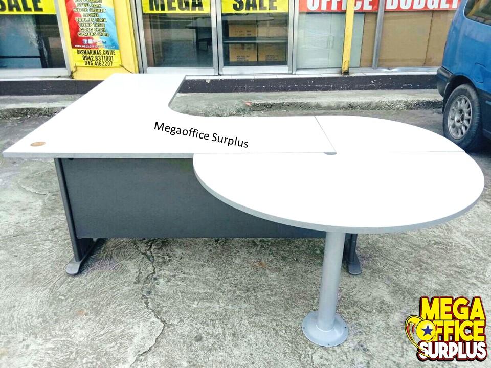 L Shape Office Table Surplus Megaoff