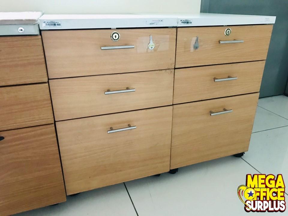 Wood Mobile Pedestal Cabinet Office Mega