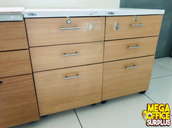 Wood Mobile Pedestal Cabinet Office Mega
