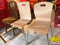 Milk Tea Shop Wood Grain Chairs Megaoffi