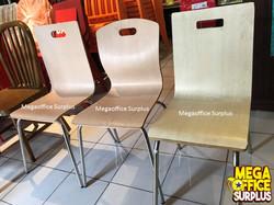 Wood Grain Restaurant Chair