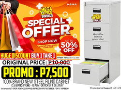 Steel Filing Cabinet Clearance Sale Megaoffice