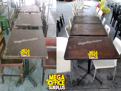 Wood Resto Chairs Tables Megaoffice