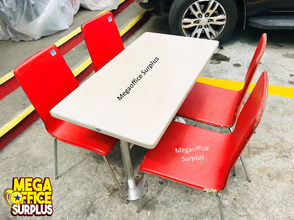 Used resto fast food chair and table