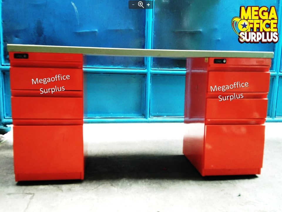 Colored Office Desk BPO Table Megaoffice