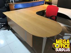 Lshape Office Table Used Megaoffice