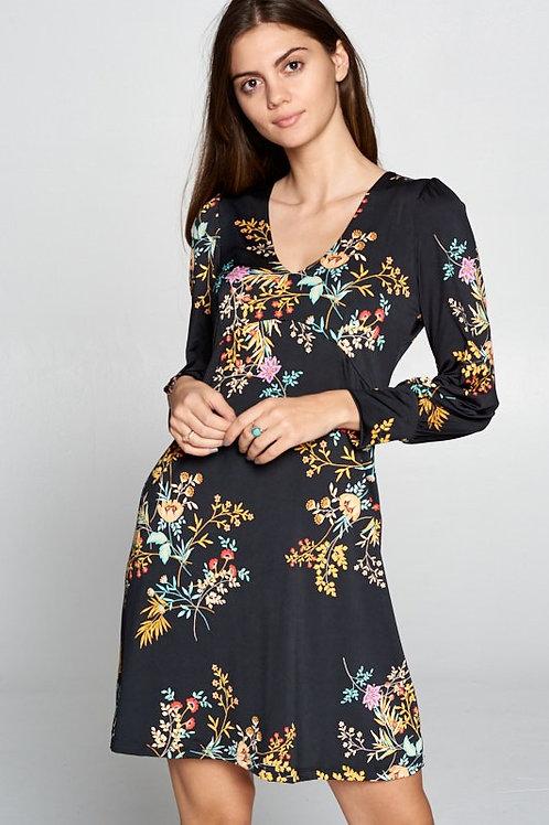 Pretty Lady Floral V-Neck Dress