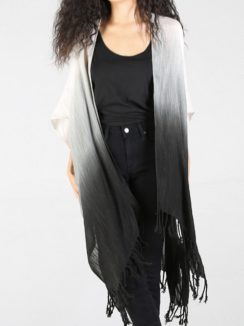 Ombre Fringe Kimono