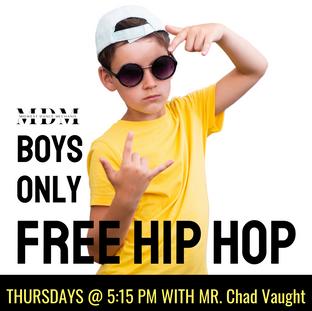 FREE Summer Boys Hip Hop Class