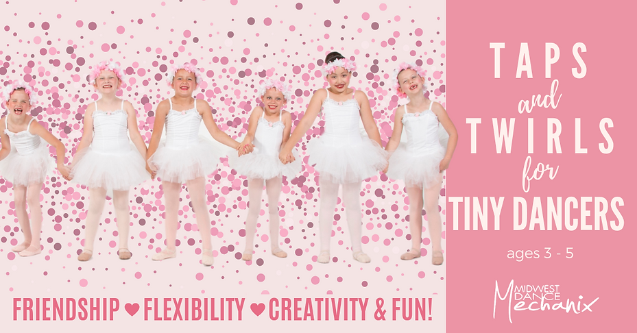 Taps & Twirls - FB with white ballerinas