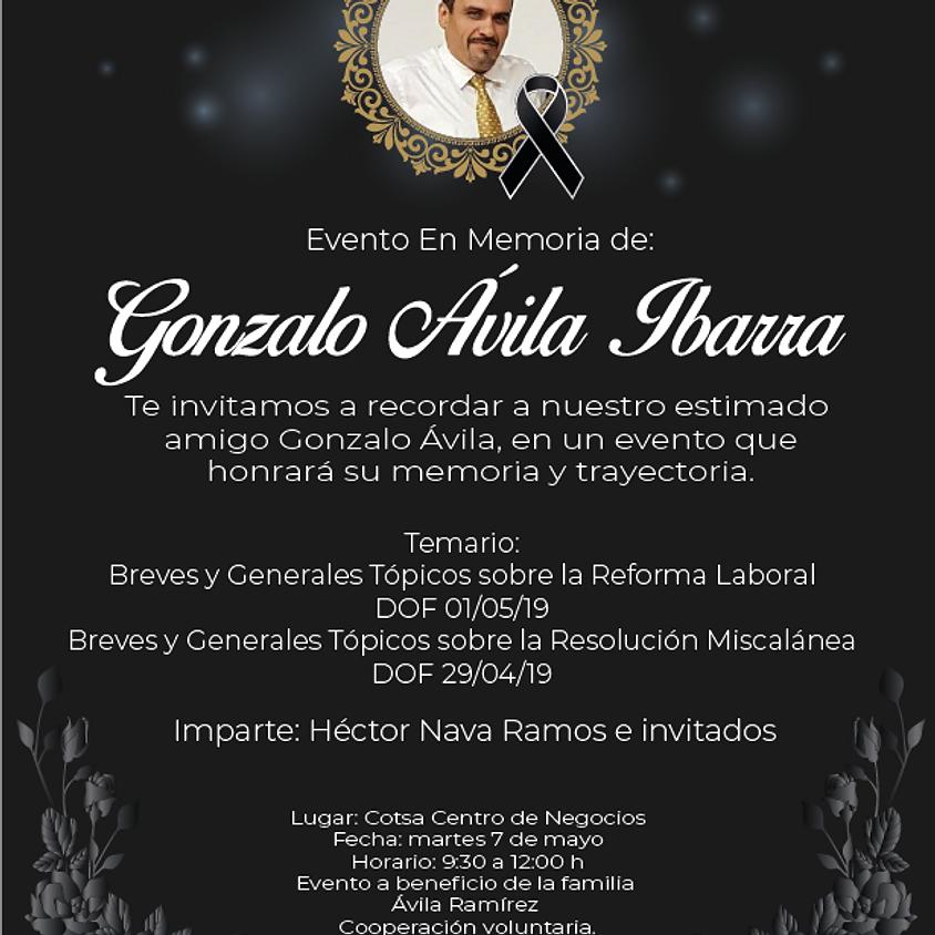 Evento En Memoria de Gonzalo Ávila Ibarra