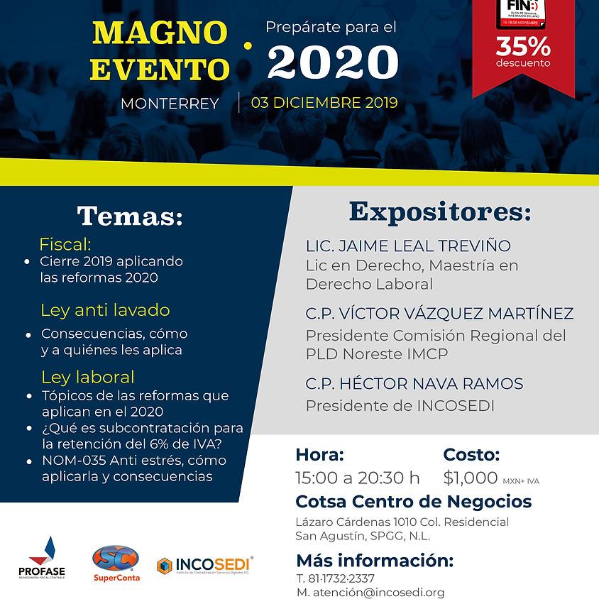 MAGNO EVENTO: prepárate para el 2020
