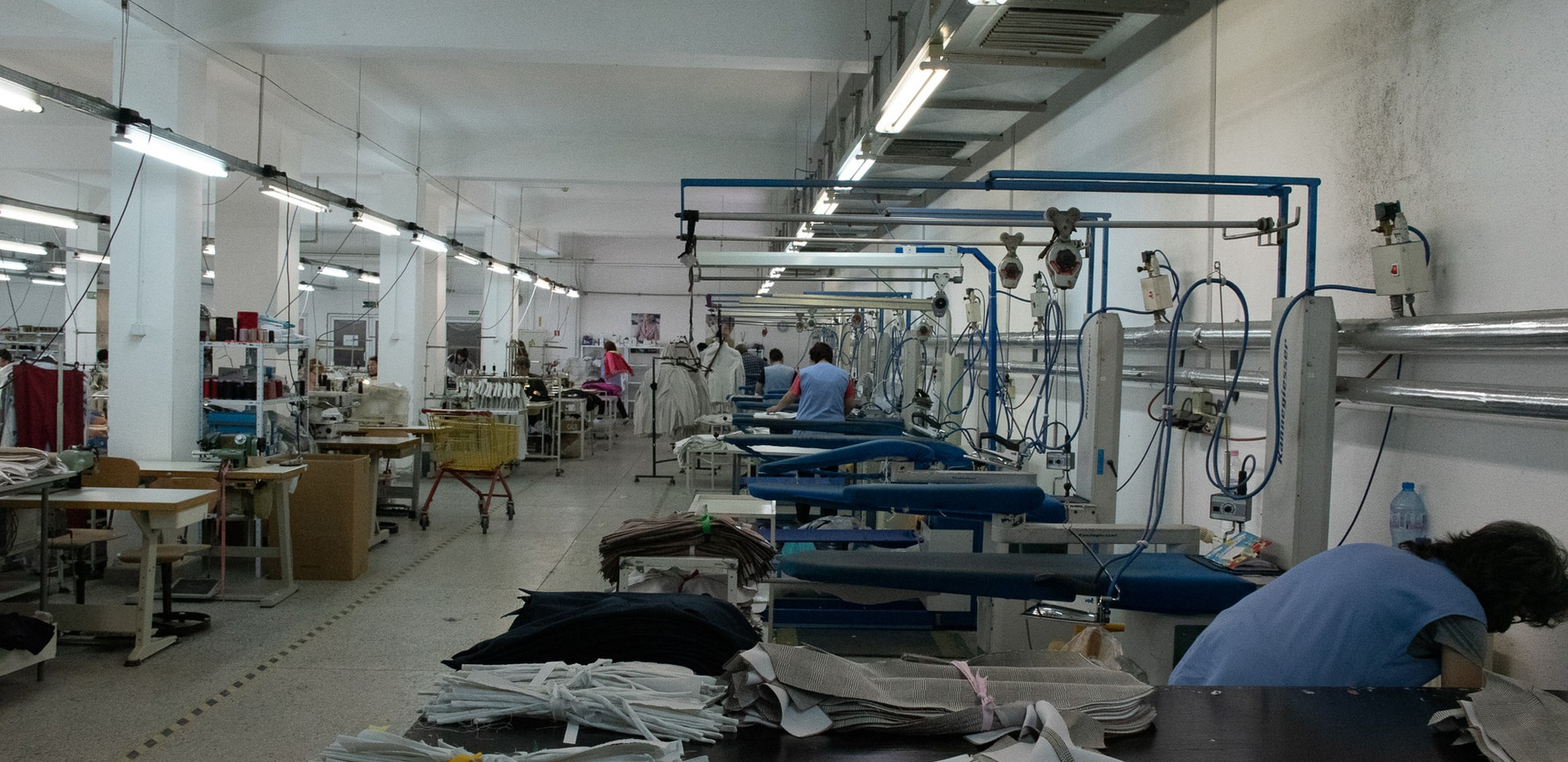 Part of ironing department
