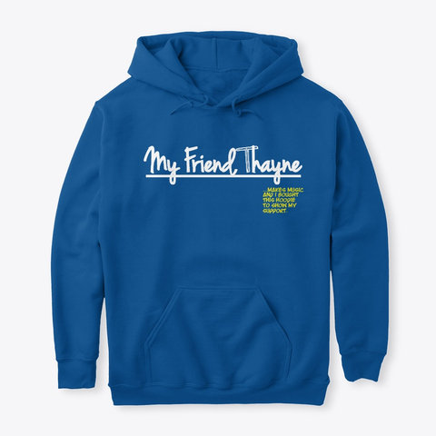 """I Support"" Hoodie (ROYAL BLUE)"