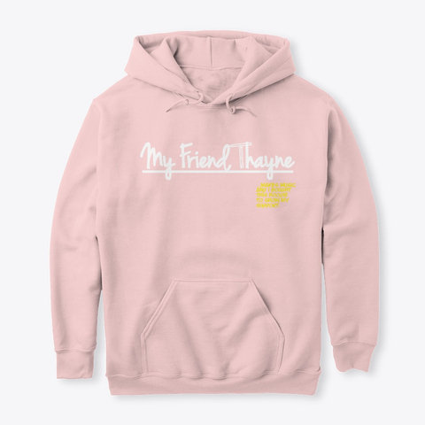 """""""I Support"""" Hoodie (LIGHT PINK)"""