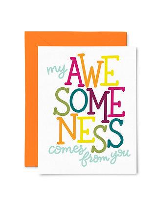 MY AWESOMENESS // Greeting Card