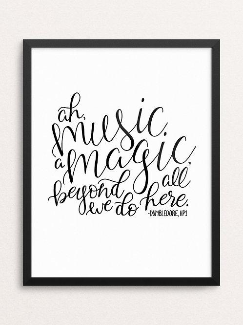 MUSIC IS MAGIC // Art Print