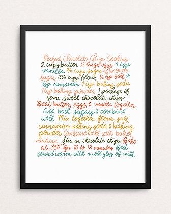 COOKIE RECIPE // Art Print