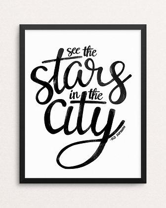 STARS IN THE CITY // Art Print