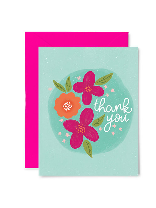 FLORAL THANK YOU // Greeting Card