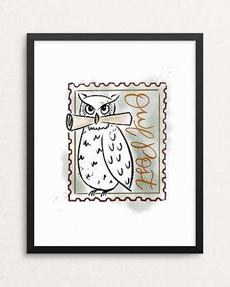 OWL POST // Art Print