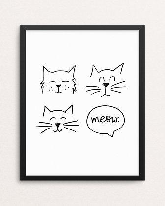 CUTE CATS // Art Print