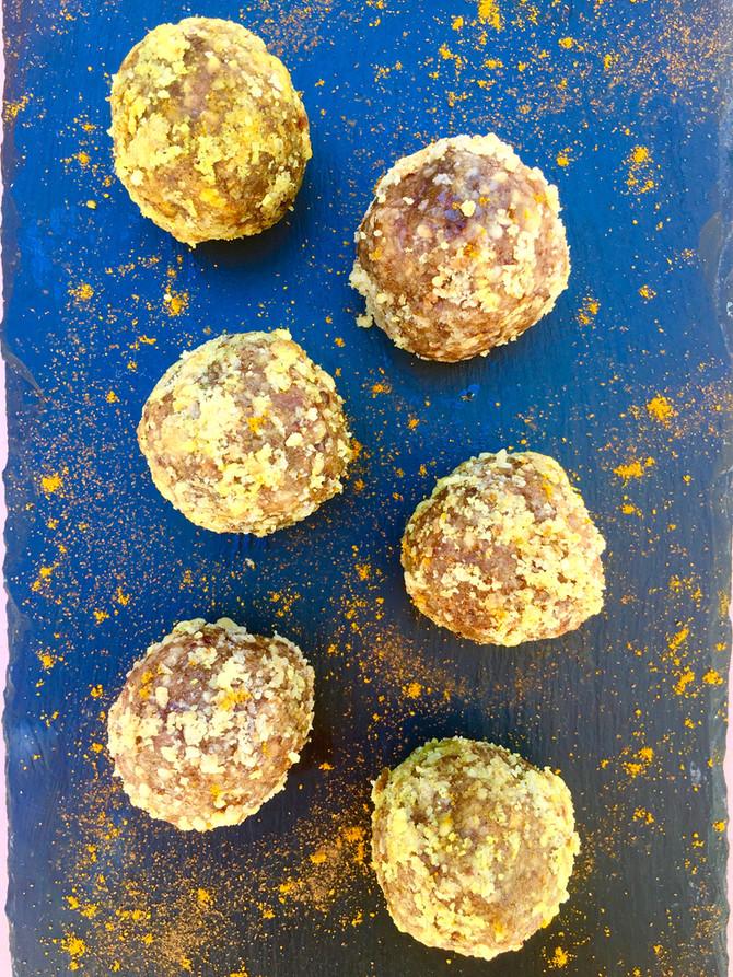 Sweet Potato Turmeric Walnut Truffles (vegan, gluten & grain free)