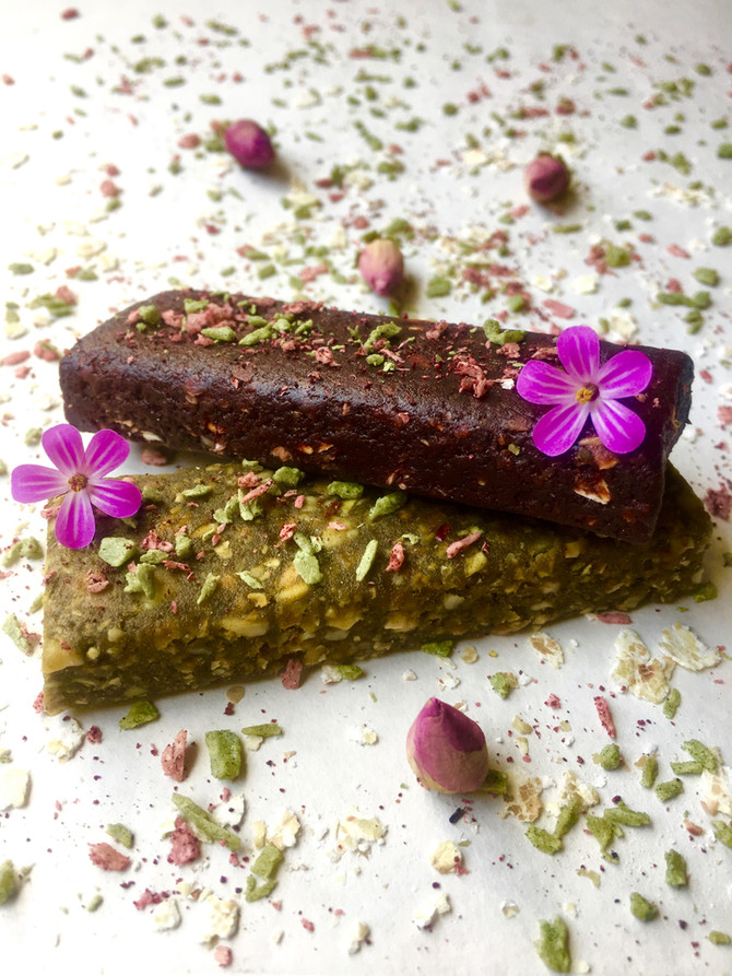 Green Matcha & Cacao Berry Protein  Granola Bars (grain free, vegan)
