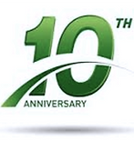 Light By Design Ltd 10 Year Anniversary Logo
