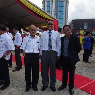 At the 'Majlis Perletakan Batu Asas' for Hikmah Exchange on 7th April 2017.