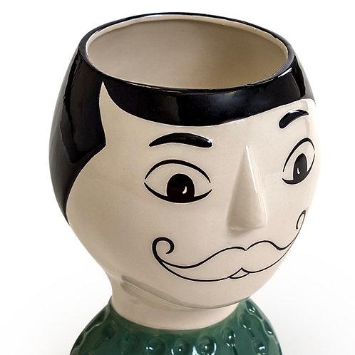 Doodle Man Moustache Vase