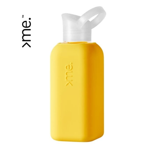 Recycled Glass Water Bottle - Yellow