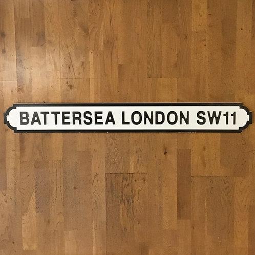 Battersea London SW11 Road Sign