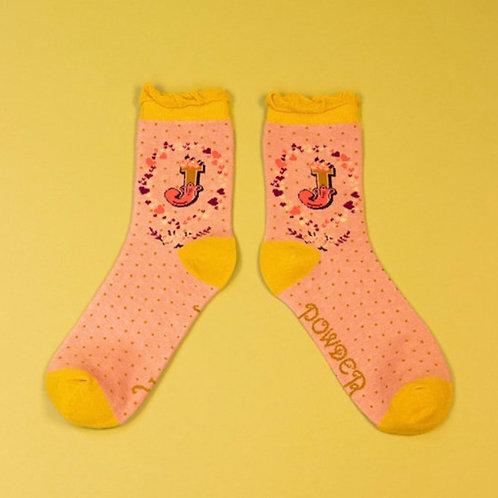 Monogram Socks - J